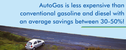 FACTOIDS_Autogas is less expensive than conventional gasoline and diesel.