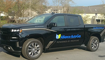 Historical Image Of Alliance AutoGas Branded 2019 Chevy Truck