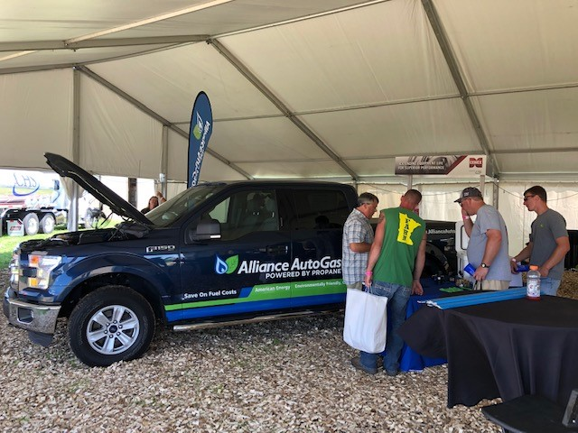 Alliance AutoGas Truck Featured in Tent at Minnesota Farmfest