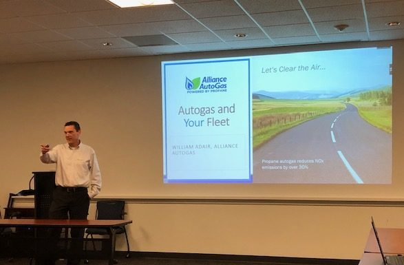 Alliance AutoGas Employee Speaking at Autogas Answers Event