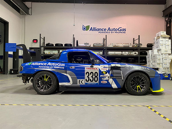 Side view of the Alliance AutoGas Race Car