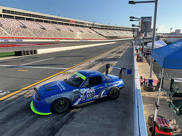 Five Tales Race Car Pictured at Charlotte Motor Speedway - Driver Side