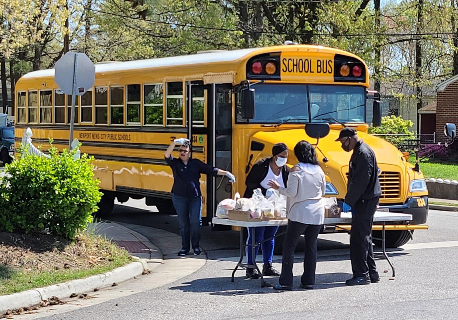 Newport News Public Schools, uses propane school buses to get food to children.